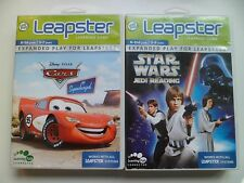2 x Leapfrog Leapster Games Car and Star Wars Jedi Reading