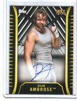 WWE Dean Ambrose A-DA 2018 Topps NXT Authentic Autograph Card