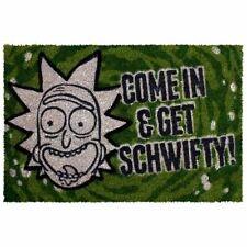 Rick and Morty Get Schwifty Green Doormat Welcome Mat - Home Accessories