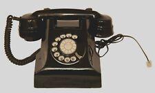 Black Bakelite Vintage 50s Dial Telephone Retro Phone Heavy Original State