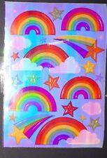 🦁☂️Sandylion  BIG Abriss Regenbogen pearly glänzend  Scrapbooking Sticker☂️🦁