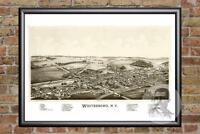 Vintage Whitesboro, NY Map 1891 - Historic New York Art Old Victorian Industrial