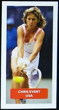 TENNIS - USA - CHRIS EVERT Score 'Champions of World Sports' trade card