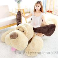 78''Giant Big Large Lying Dog Plush soft Toy Stuffed Animal Sleeping Pillow Doll