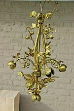 Rare Antique french Art nouveau Chestnut floral bronze chandelier
