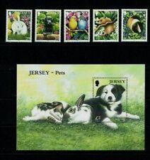Jersey: 2003, Pets, MNH set + Miniature sheet.