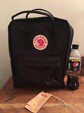 Fjallraven Kanken Black Back Pack Ruc Sac Bag 16L Excellent Condition