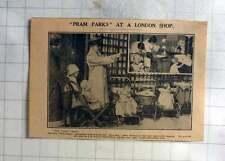 1926 Pram Parks At A Big Shop In Hammersmith