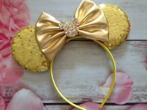 Gold Sequin Minnie Mouse ears headband-Disneyland-Disney World