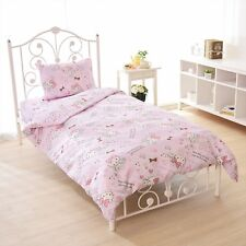 New Sanrio Hello Kitty Bed Cover 3 Pieces Set Single Size Pink from Japan F/S