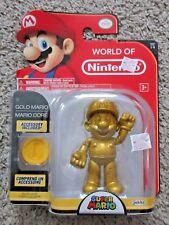 GOLD MARIO FIGURE WORLD OF NINTENDO BRAND NEW SERIES 1-5 SUPER BROS