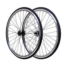 Fixie Flip-Flop Track 700c x45 mm Deep F&R Wheel Set w Tire & Tube Chrome