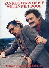 VAN KOOTEN & DE BIE willen niet dood HOLLAND NEAR MINT LP 1987