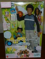 African American Ryan & Alan Barbie Doll Happy Family Birthday Truck Midge Son