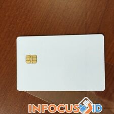 Proximity FM4442 Contact Chip Smart ID Cards 30mil Blank White PVC Pack of 100
