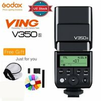 US Godox V350S GN36 TTL 1/8000s Li-ion Battery Flash Speedlite For Sony Cameras