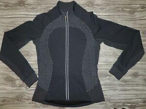 Lululemon Lined Gray Full zipper Windbreaker Jacket size 4