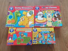 Orchard Toys Bundle VGC Loopy Llamas, Dotty Dinosaurs