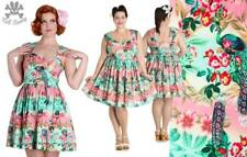 Hell Bunny Mini Peacock Rockabilly Pinup Swing  Day Dress XL - 4XL