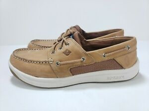 SPERRY TOP SIDER TAN CONVOY LEATHER BOAT SHOES MENS STS17627 SIZE 11M
