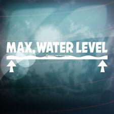 Max el máximo nivel de agua 4x4,Car divertido, ventana de vinilo autoadhesivo con tierra DUB VAG