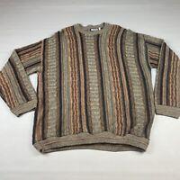 Vintage Megalos Size 2XL Men's Coogi Style Cosby Sweater 90's Cobain Biggie