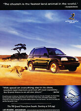 1999 2000 Suzuki Grand Vitara V6 Original Advertisement Car Print Ad J365
