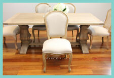 *In stock now!* NEW French Provincial Oak and Linen dining chair