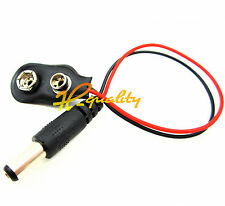 1pcs DC 2.1MM power plug 9V battery snap I-type line Arduino Snaps
