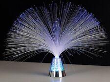 Glasfaserlampe Glasfaser-Lampe bezaubernde Retrolampe mit farbwechselndem Sockel
