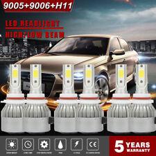 Combo 9005 + H11 + 9006 LED Headlight Kit 3900W 585000LM CREE Hi Low Bulbs 6000K