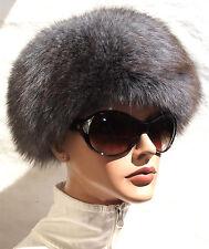 Hut Pelz Fuchs Mütze Blaufuchs Vintage Kappe Fur Fox Hat Edel Blau Denim