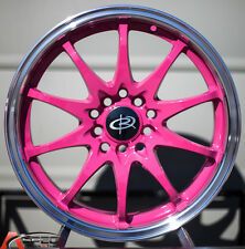16X7 +40 ROTA FIGHTER 10 5X114.3 PINK WHEELS FIT SCION FR-S TC XD CELICA COROLLA