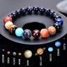 Eight Planets Bead Bracelet Natural Stone Universe Galaxy Yoga Chakra Bangle