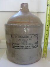 Stoneware Advertising Distillers Jug - C -1890 - Bowling Green, KY