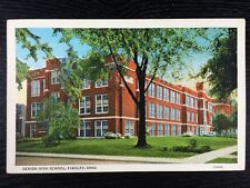 The Senior High School Building in Findlay, OHIO Hancock Chrome Postcard Unused