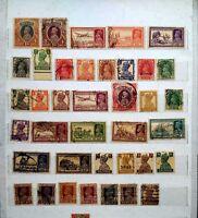 100pcs Different British India WWII Old Antique Stamps Victoria KG V VI Rare lot