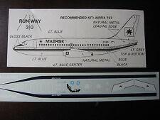 1/144 RUNWAY 30 DECAL BOEING 737 MAERSK DECALCOMANIE