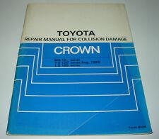 Body Repair Manual Toyota Crown MS 122 123 YS 120 LS 120 Collision Damage 8/1983