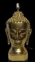 1950's Plasto Mfg Buddha Head Bust Lamp Mid Century Modern MCM Vintage