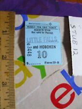 Train RR Ticket Stub Pass EL Erie Lackawanna Little Falls NJ Hoboken 1968