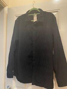 Urban Renewal Vintage Attitude Corduroy Cord Shirt XL Black Ex clean cond