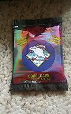 Collect-a-card COCA-COLA coke caps/pogs 1x brand new sealed packet 1995