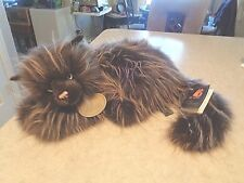 """Vintage Aurora Plush Classic Cat Collection Leather Tag Large 20"""" 1996 Life Size"""