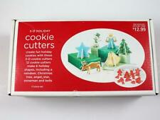 Target 3-D Holiday Cookie Cutters 12 Piece Set w/Box & Recipe Christmas