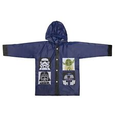 Star Wars Kinder Poncho blau Regenjacke mit Kapuze Jacke Größe 128