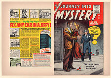 Journey into Mystery #30 Unused Comic Book Cover - Vanishing Lady (8.0) 1956