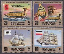 KOREA Pn. 1983 MNH** SC#2305a/d set,  Old Ships.