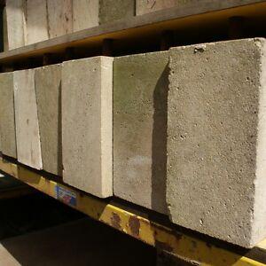 SET OF 4 - 125mm CLEARANCE Sandstone Straight Smooth Staddle Stone/Oak Framed