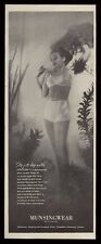 1945 Munsingwear lingerie sheer panties bra pretty woman photo vintage print ad